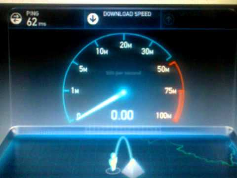 MTNL brodband 512 kbps internet speed test in dell laptop