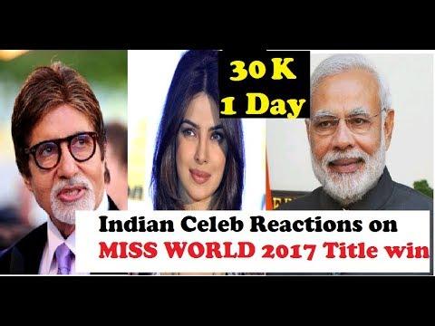 Celebs react on Manushi Chillar's Miss World Title
