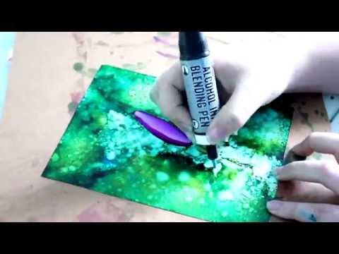 Purple Flower Time Lapse Alcohol Ink Art