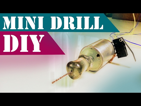 DIY Mini Drill Without a Chuck For PCB drilling