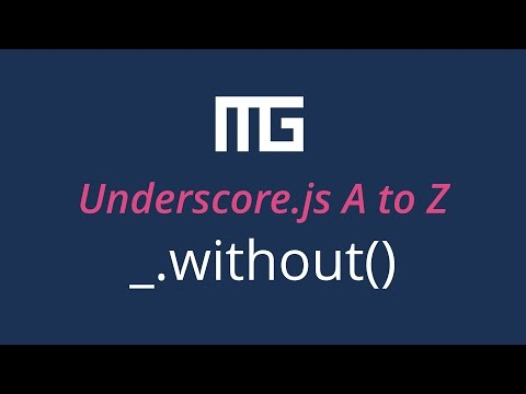 Underscore.js without function // _.without()