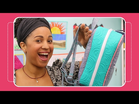 How to Make Fabric Straps for Bags & Backpacks Tutorial by The Crafty Gemini