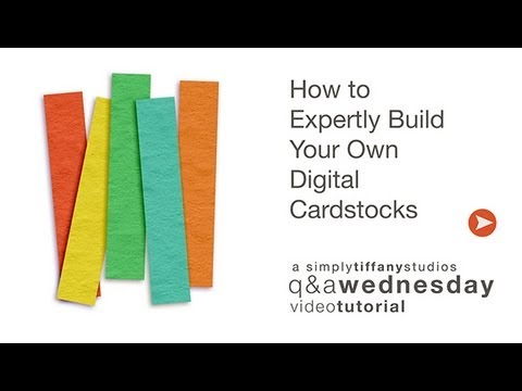 How to Expertly Build Your Own Digital Cardstock