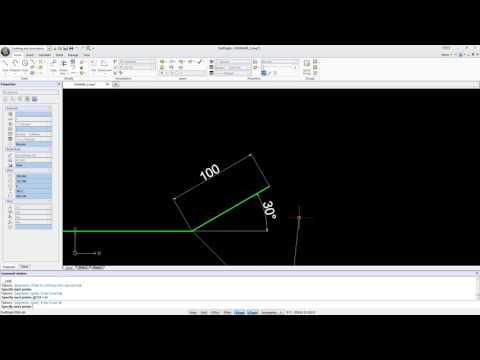DraftSight - Draw a line at an angle