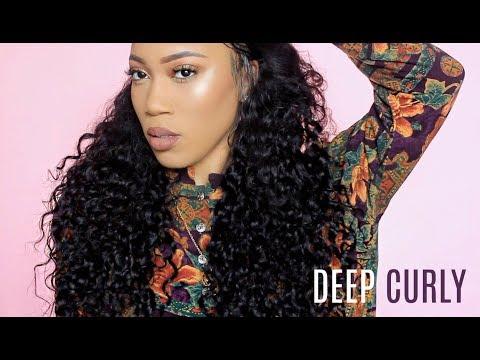 HOW TO STYLE DEEP CURLY HAIR   ALI JULIA HAIR