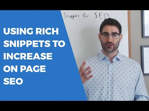 Using Rich Snippets to Increase SEO