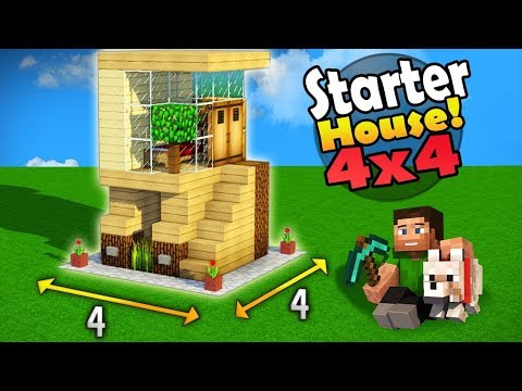 Minecraft  4x4 Starter House Tutorial - How to Build a House in Minecraft / Easy /