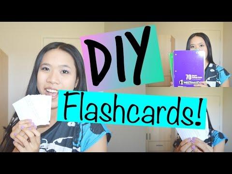 ♡ DIY Flashcards ♡   lexyheartsbeauty