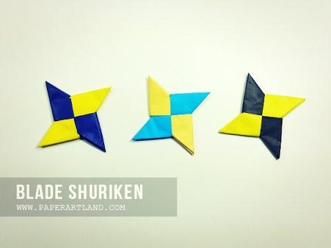 How to Make a Traditional Origami Shuriken ( Ninja Star )