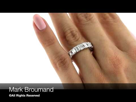 Mark Broumand - 6.20ct Emerald Cut Diamond Eternity Band in Platinum