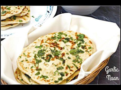 No Yeast Garlic Naan on Tawa