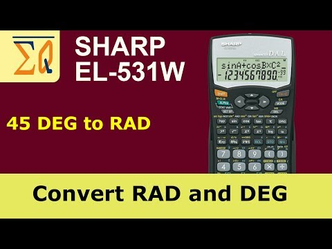 Sharp EL-531W convert angle degree to radian