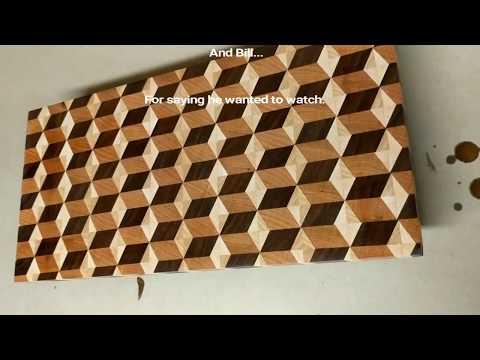 End Grain 3D Cutting Board