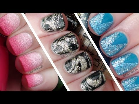 3 Easy Textured Nail Art Designs for Beginners |  ArcadiaNailArt