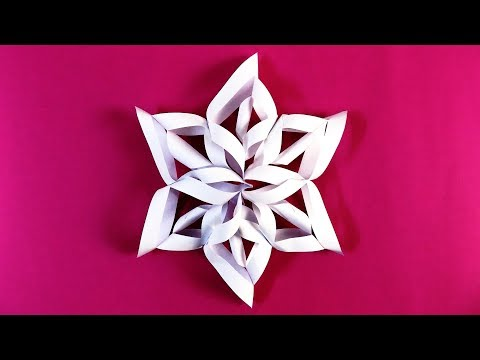 3D Snowflake DIY Tutorial - How to Make 3D Paper Snowflakes for homemade decorations