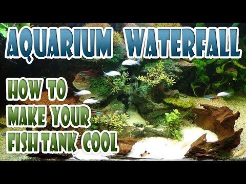 Waterfall Aquarium Sandfall AquaScaping 🐠 MAKE YOUR AQUARIUM LOOK COOL - Fish Tank Sand Land Scaping