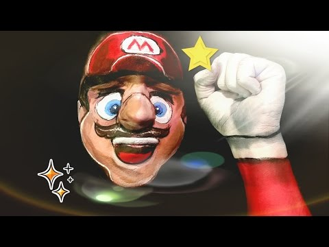 Super Mario Nintendo:  Makeup/face paint tutorial.