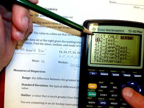 TI-84 Tutorial: Mean, Median, and Mode