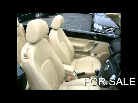 FOR SALE 2005 VOLKSWAGEN BEETLE 2.0 2DR 5SPEED MANUAL CONVERTIBLE, BLACK WITH BEIGE LEATHER