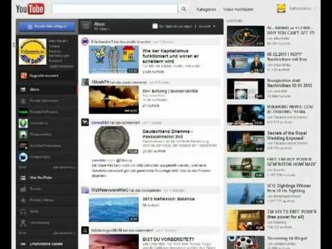 RSS-Feed URL von youtube Konten ermitteln