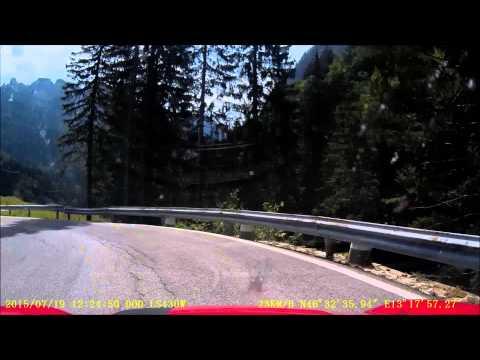 Dashcam - Hermagor, Austria to Tarvisio, Italy via Nassfeld Pass - 19 July 2015