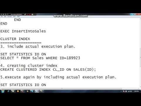 SQL SERVER : Cluster Index ,Non-Cluster Index, Execution Plan