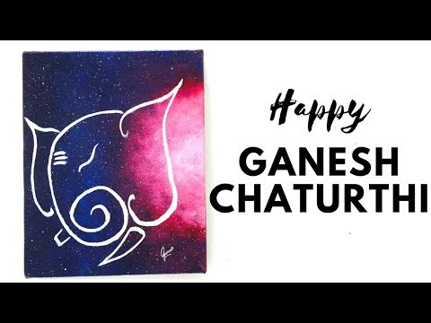 Ganesha Painting | Ganesh painting on canvas | easy ganesha Painting - Gaurav sunil