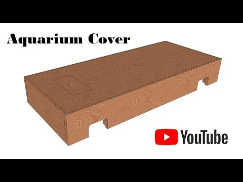 How to make an aquarium top cover. Homemade fish tank lid. DIY builders ideas.