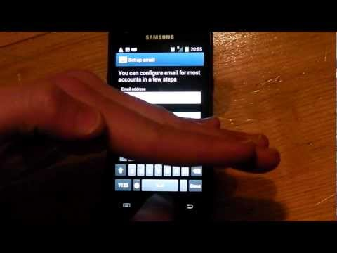 how to setup email in android ice cream sandwich.MP4