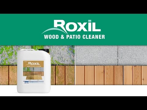 Clean Mould & Algae from Wooden Fencing - Roxil Wood & Patio Cleaner