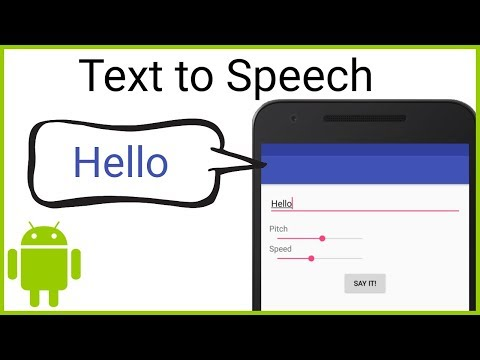 Text to Speech - Android Studio Tutorial