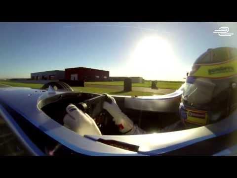 Formula E electric single seater racing car  - Track Debut