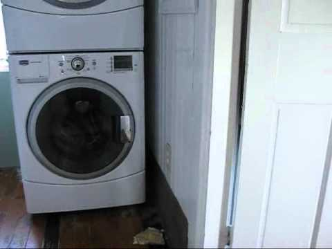 Bathroom trim and washer dryer stacking 1