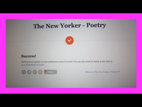Submitting To The New Yorker (5.27.17 - Day 32)