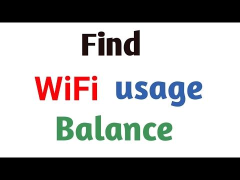 how to find wifi usage balance
