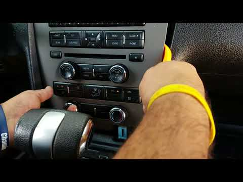 How to Remove Radio / CD Player from Ford Mustang 2012 for Repair.