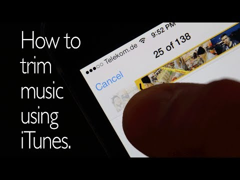 How to trim music using iTunes