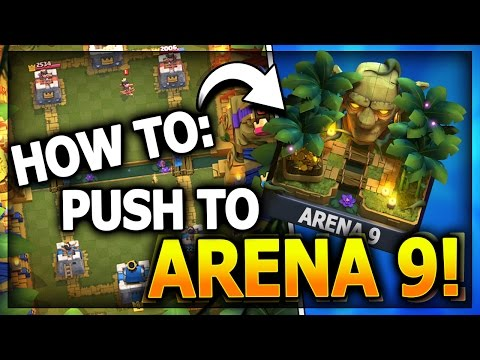 HOW TO GET TO JUNGLE ARENA 9! NO LEGENDARY CARDS! Top 3 F2P Decks! Clash Royale Best Arena 8 Deck?