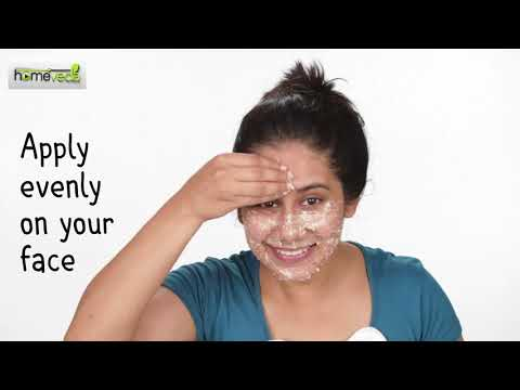 Oatmeal Face Scrub| DIY Skin Care - Homeveda Remedies