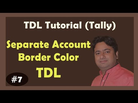 How to add Border on Entries in Tally | Advance Tally Developer Tutorial Hindi with PDF