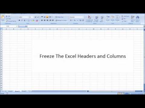 How to Freeze Headers in Excel in Tamil - Excel in Tamil Freezing the Headers Rows and columns