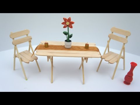 Miniature Table and Chair DIY Project | TCraft