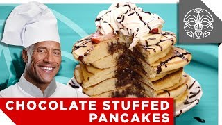 …What The Rock is Cooking: Chocolate Stuffed Pancakes!