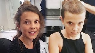 """Watch """"Stranger Things"""" Star Millie Bobby Brown Shave Her Head to Become Eleven"""