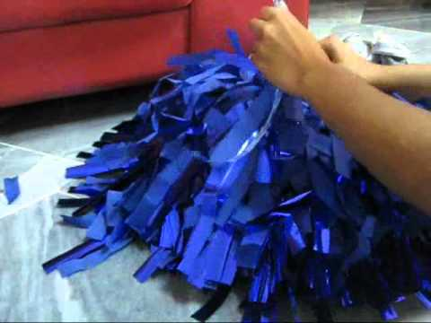 How to make cheer poms