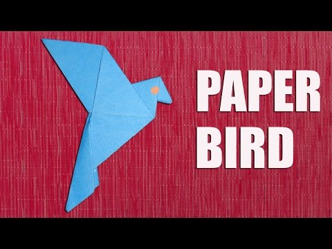 How to Make a Paper Bird for Room Decoration