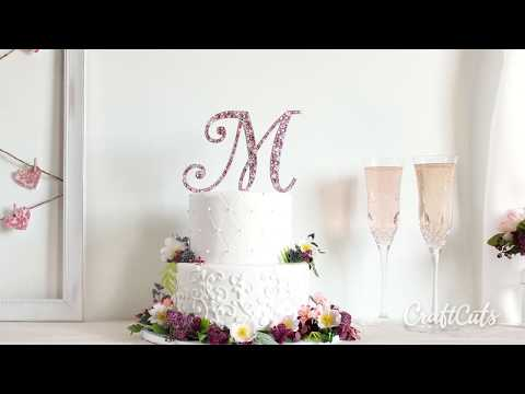 How to Decorate a Monogram Cake Topper with Crystals