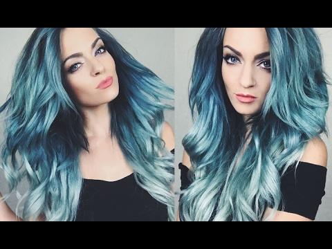 HAIR COLOR TUTORIAL | Blue Green Ombre Hair Dye