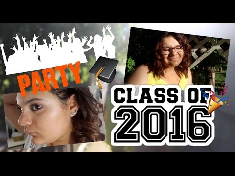 get ready with me//graducation party