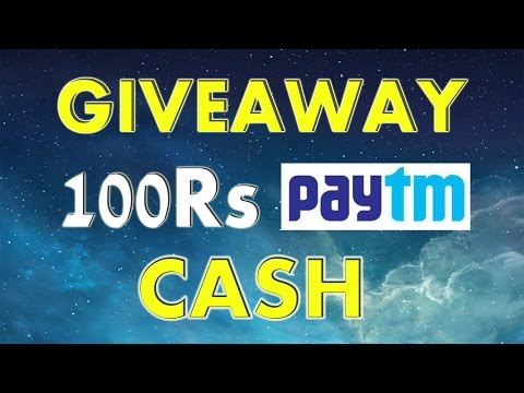 GIVEAWAY! Win 100Rs PayTm CASH Hurry Up !